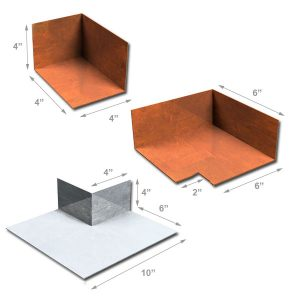 corners and end dam dimensions